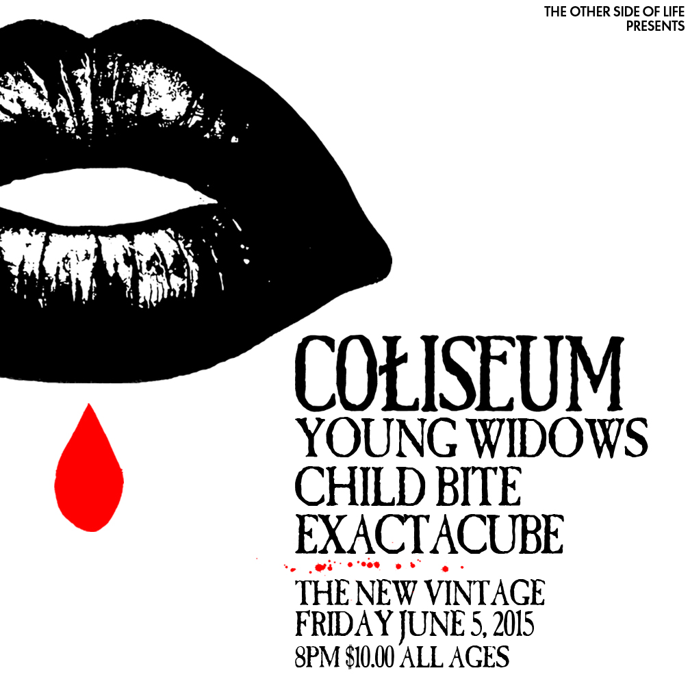 coliseum �anxiety�s kiss� record release show with young